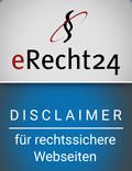 erecht24 siegel disclaimer blau Disclaimer